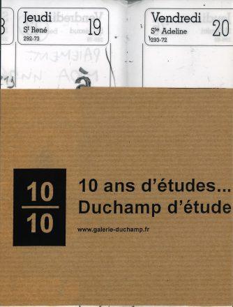 10 ans d'études… Duchamp d'étude
