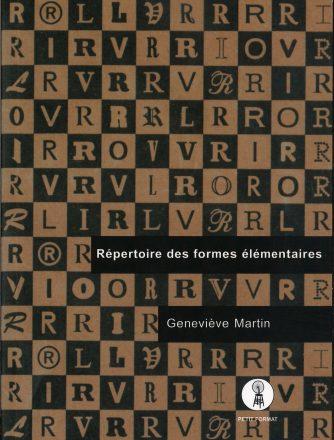 Geneviève Martin, Répertoire des formes élémentaires